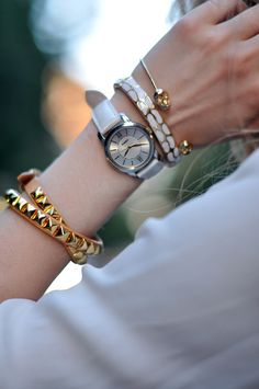 Arm candy.