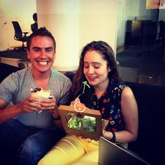 Dani is giving up Chipotle until she raises 5K for charity: water. Paull offered to donate 100 dollars for eating a burrito in front of her!