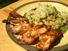 Fajita Chicken with Cilantro Slaw