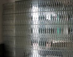 Clear Glass Wine Bottle Wall