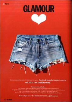 Glamour Germany loves Denim & Supply denim short shorts- Festival Approved