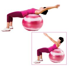 Ab exercise: Do 3 sets of 12–15 crunches on a stability ball 2–3 times a week to strengthen your core. | health.com
