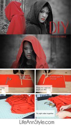 DIY Cape :: Little Red Riding Hood @Whitney Hughlett