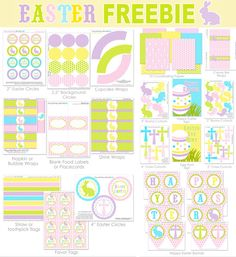 Easter FREE Printables Set from our good friends @Amanda's Parties TO GO everything you will need to host the best Easter party.