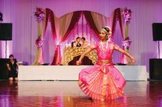 A traditional Indian dance performed at the wedding reception. Photo by Shipra Panosian