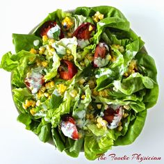 Butter Lettuce Salad with homemade Buttermilk Herb Dressing.