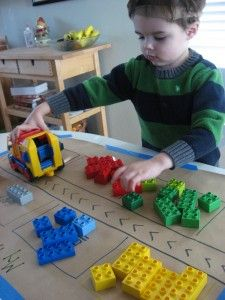 Recycling Center Pretend Play { Color sorting and counting too! }