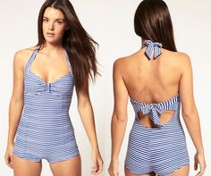 Seafolly Maillot. Lovely back detail.