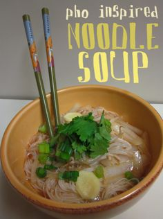 pho inspired noodle soup.