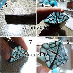Kaleidoscope fractal clay cane tutorial