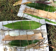 weaving with leaves - cool!  smallforbig.com