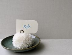 pom placecard holders