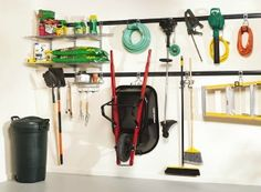 Your garage floor space is at a premium because you need to park your cars in there, so make the most of wall storage with a garage wall storage system.