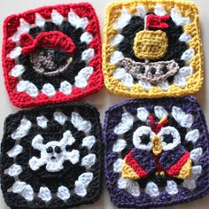 Pirate Granny Squares Crochet Patterns | AllFreeCrochetAfghanPatterns.com
