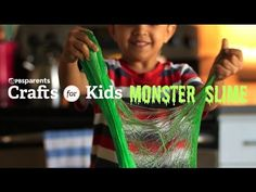 Just in time for Halloween --> DIY Monster Slime   Can't wait to make this!