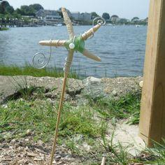 Starfish Garden Stick by conservanSEA on Etsy, $12.00