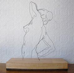 Wire sculptures by Gavin Worth.