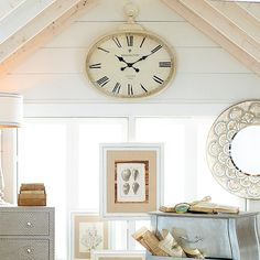 When it's time to add a vintage touch, an Antiqued Wall Clock does the tick—um, trick.