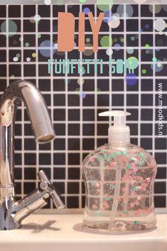 DIY funfetti soap  www.moodkids.com