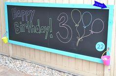 DIY gift for kids - Outdoor Chalkboard
