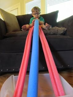 Play Create Explore: Pool Noodle Marble Run