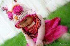 Hot pink owl
