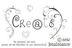 Sew Jenaissance : Create! Free hand embroidery pattern.