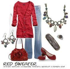 red, white & denim