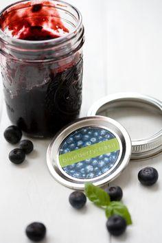 Blueberry and Basil Jam #recipes
