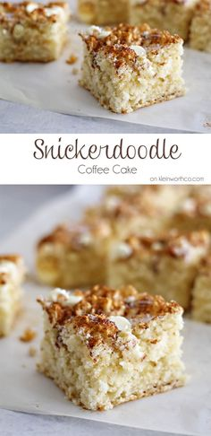 "Snickerdoodle Coffee Cake on <a href=""http://kleinworthco.com"" rel=""nofollow"" target=""_blank"">kleinworthco.com</a>"