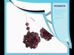 TUTORIAL DIY Como se hace unos pendientes de cristal de Swarovski