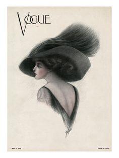 Una de las primeras portadas de Vogue.