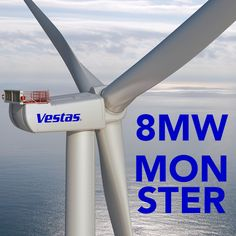 8 MW wind turbine, hows that for ocean energy, sort of. wind turbine, giant offshor, gamechang vesta, 8mw wind, wind technolog, power wind, wind power, green power, offshor wind