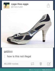 Sports Heels.. what the heck< oh yes, very attractive o_o