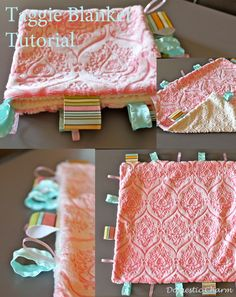 DIY- Baby Taggie Blanket Tutorial- a great baby gift! How pretty