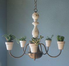 Shabby Chic Hanging Plant-elier--ETSY