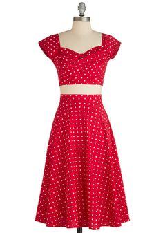 Polka-dots!!  Pin-Up to Par Dress, #ModCloth