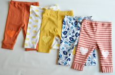 sewing & stamping baby leggings