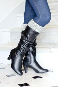 Basic Chunky Boot Cuffs Crochet Pattern via Hopeful Honey