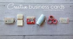 creative business cards and thank you gift packages
