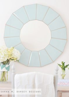 sarah m. dorsey designs: 80s Chandelier to Glass Mirror | How To