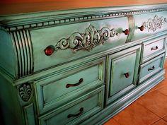 Tourquoise & Black Glazed Dresser... POW!