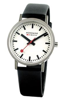 Mondaine Classic Swiss Railways Watch: A design classic, The Mondaine Swiss Railways watch. Design originated in 1944 and is still hugely popular today