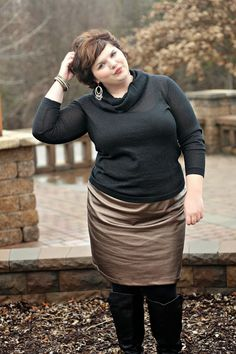 Hems for Her Trendy Plus Size Fashion for Women: Bronze for the Holidays