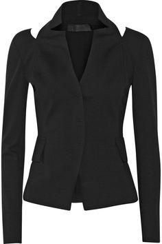 Donna Karan Cutout ponte blazer NET-A-PORTER.COM