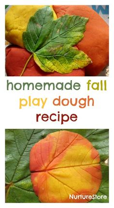 a great homemade autumn play dough recipe and lovely fall sensory play activity