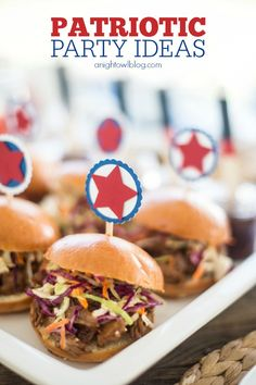 So many great Patriotic Party Ideas for 4th of July and more via Four Generations One Roof