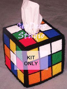 Tissue Box Cover - Rubic's Cube