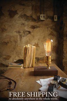 Edison Lamp Table Lamp Desk Lamp Cool Gifts for Men  by LukeLampCo, $128.00