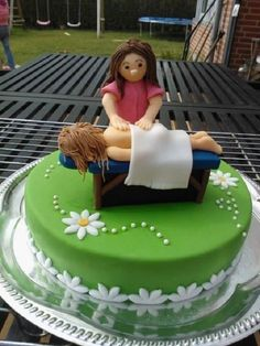 a massage therapist cake.  @Patricia Clouse
